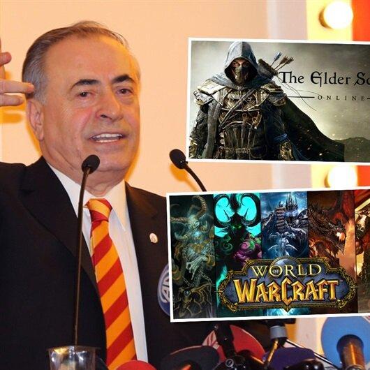 Galatasaray Başkanı Mustafa Cengiz stres atmak için bilgisayar oyunu oynuyor
