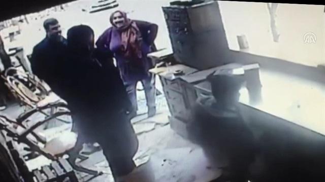 Restorandan hırsızlık güvenlik kamerasında