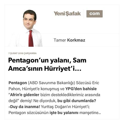 Pentagon'un yalanı, Sam Amca'sının Hürriyet'i...
