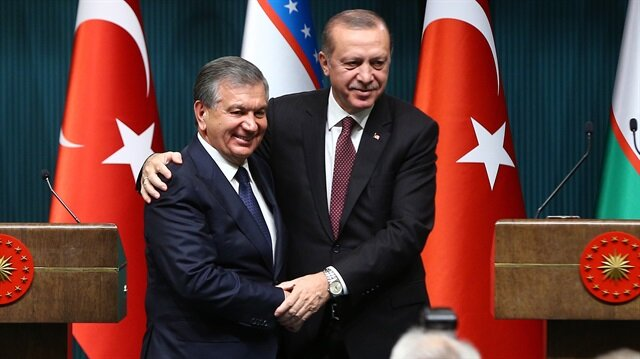 Özbekistan Cumhurbaşkanı Mirziyoyev recep tayyip erdoğan ile ilgili görsel sonucu