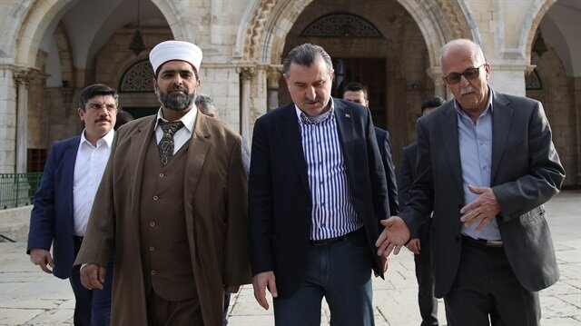 Gençlik ve Spor Bakanı Bak Mescid-i Aksa'yı ziyaret etti
