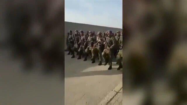 ÖSO askerleri ortalığı bu sloganla inletti