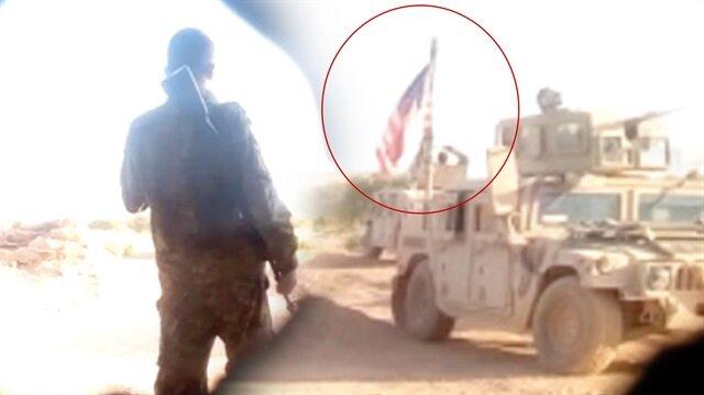 TSK ve ÖSO birliklerine bir buçuk kilometre mesafede nöbet tutan ABD askerlerinin skandal görüntülerine ulaştı.