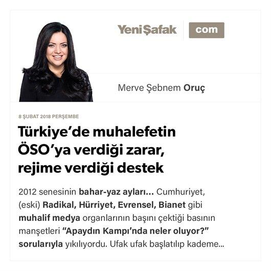 Türkiye'de muhalefetin ÖSO'ya verdiği zarar, rejime verdiği destek