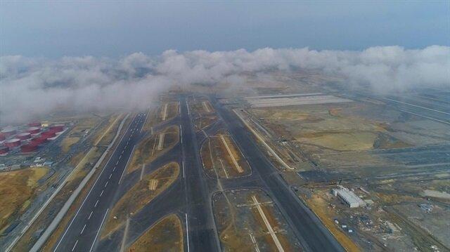 Yüzde 78'i tamamlanan 3. havalimanından muhteşem görüntüler
