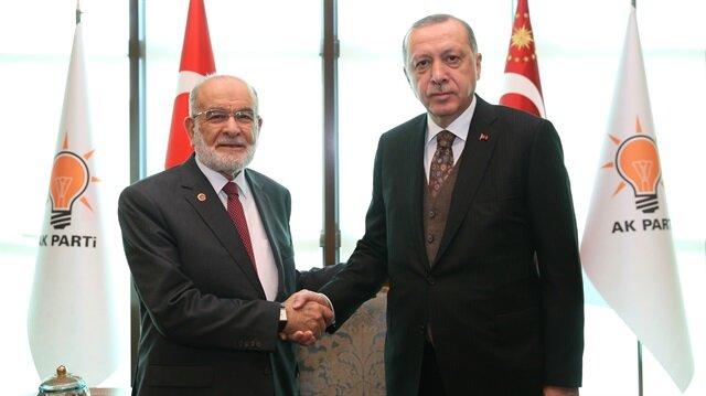 Erdoğan ile Karamollaoğlu görüşmesi sona erdi