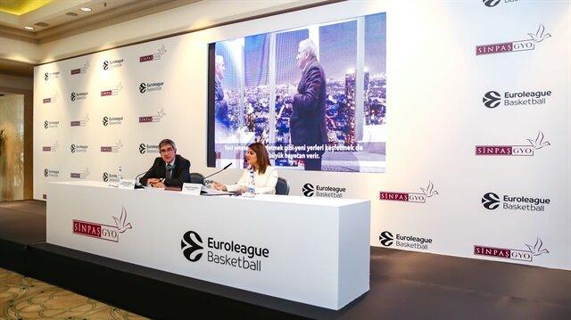 Sinpaş GYO Genel Müdürü Seba Gacemer ve Euroleague Basketbol Yönetim Kurulu Başkanı Jordi Bertomeu