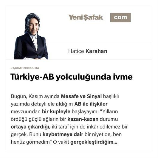 Türkiye-AB yolculuğunda ivme