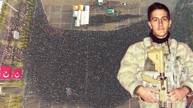 Piyade Astsubay Kıdemli Çavuş Ömer Bilal Akpınar'ı  Karabük'te binler uğurladı.