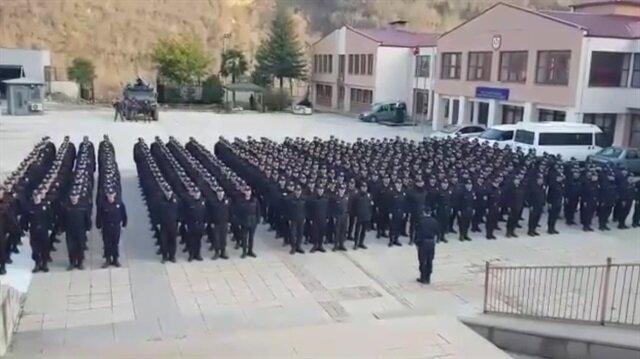 Trabzon Polis Özel Harekat'tan Afrin'e mesaj