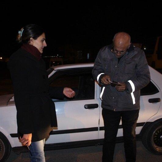 Yol izin belgesi olmayan 14 kişi gözaltına alındı