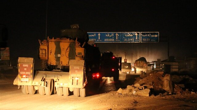 A TAF convoy has moved to establish a new cease-fire observation point in the Idlib de-escalation zone in Syria