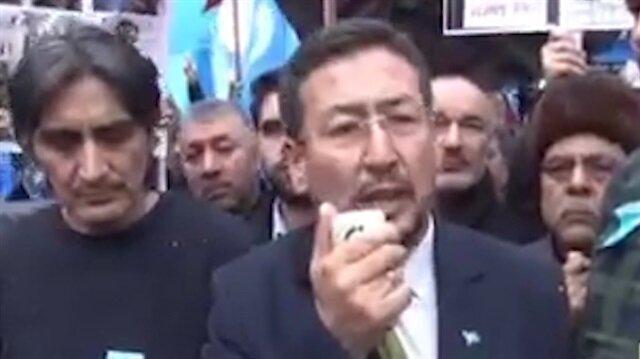 Doğu Türkistanlılar başkent'te Çin'i protesto etti