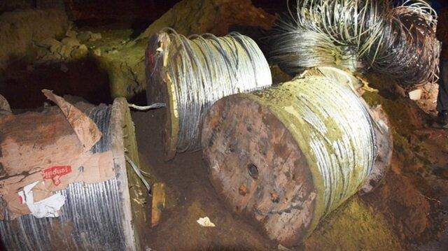 Çalıntı teller gömülü halde bulundu