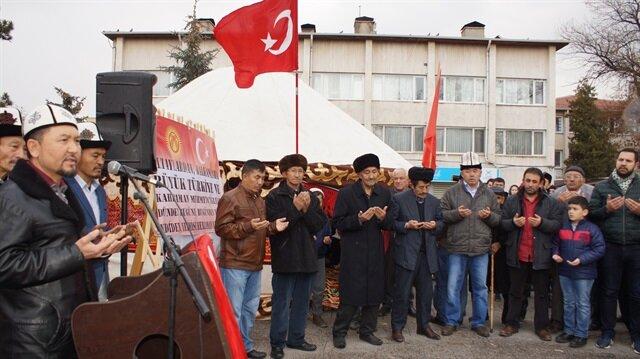 """الأتراك القرغيز في أنقرة يعربون عن دعمهم لـ""""غصن الزيتون"""""""