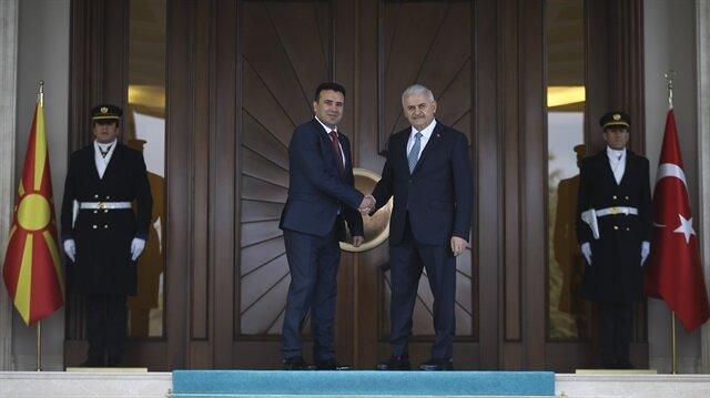 يلدريم يستقبل نظيره المقدوني في أنقرة