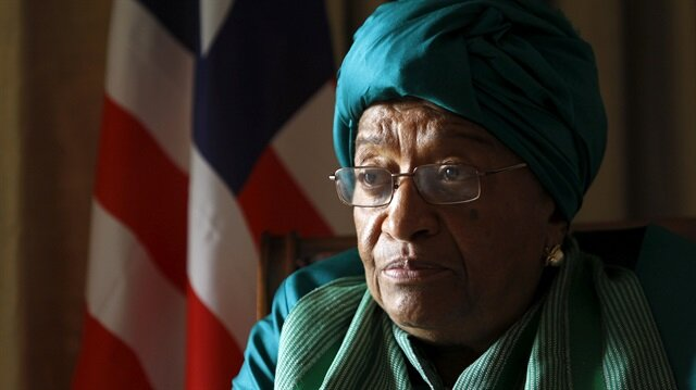 Johnson Sirleaf attends a Reuters interview ahead of the World Trade Organization Summit in capital Nairobi