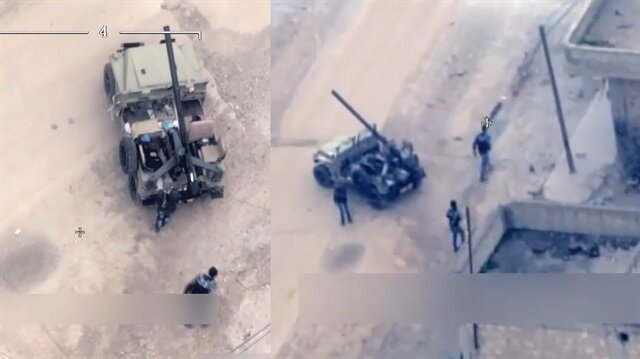 YPG'li teröristlerin sivil oyunu görüntülendi