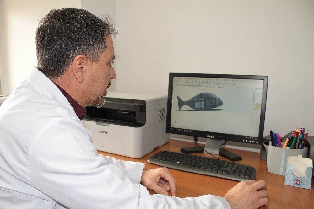 Robot balık için çalışmalar tüm platformlarda aynı titizlikle sağlandı.
