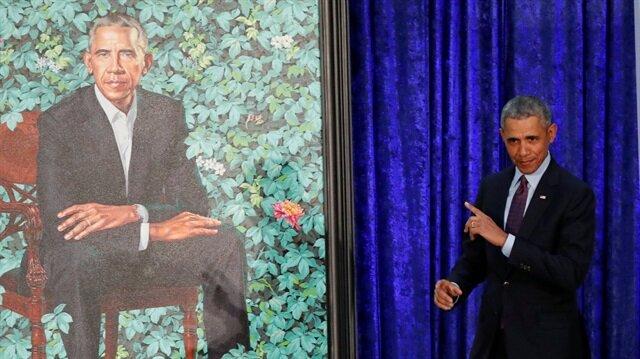 ABD'nin eski Başkanı Barack Obama ve eşi Michelle Obama'nın yeni portreleri takdim edildi. (Fotoğraf: Reuters)