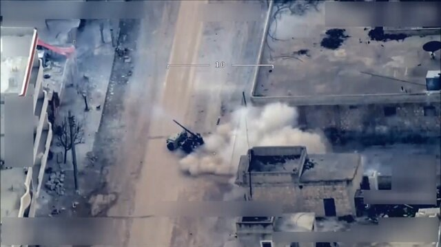 مشاهد تظهر إطلاق الإرهابيين قذائف من عفرين على مناطق سكنية تركية