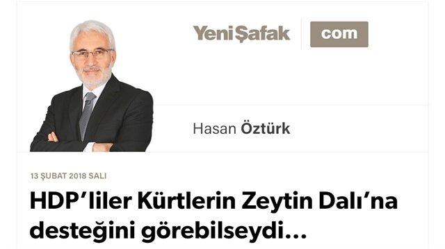 HDP'liler Kürtlerin Zeytin Dalı'na desteğini görebilseydi…