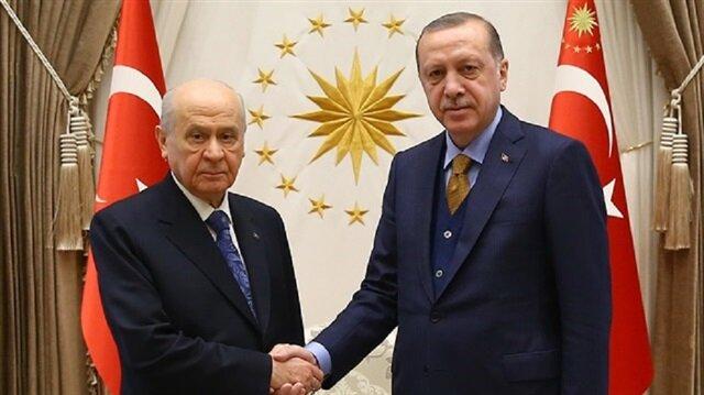 Cumhurbaşkanı Erdoğan, MHP Lideri Devlet Bahçeli