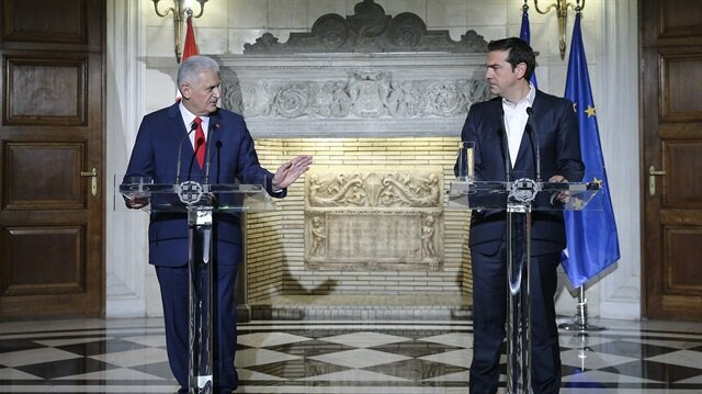 Arşiv: Başbakan Yıldırım, geçtiğimiz aylarda Atina temaslarının ilk durağında Yunanistan Başbakanı Çipras ile bir araya gelmişti.