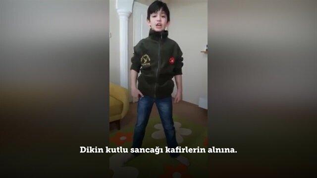 Asker oğlundan Mehmetçiğe mesaj!