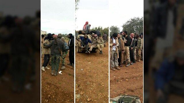 Suriye'nin İdlib-Hama hattında 340 DEAŞ'lı terörist teslim oldu. (Fotoğraf: Yeni Şafak)