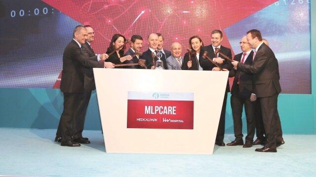 MLP Sağlık Hizmetleri'nin (MLP Care) ilk halka arz süreci ardından Borsa İstanbul'da 'MPARK' kodu ile işlem görmeye başladı