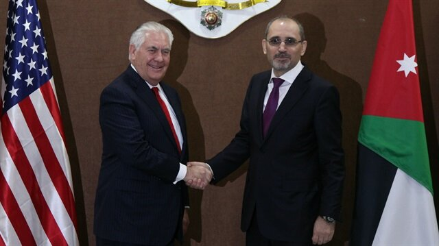 ABD Dışişleri Bakanı Rex Tillerson, Ürrdün'de mevkidaşı ile görüştü.