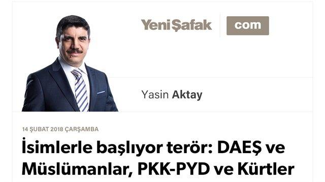 İsimlerle başlıyor terör: DAEŞ ve Müslümanlar, PKK-PYD ve Kürtler