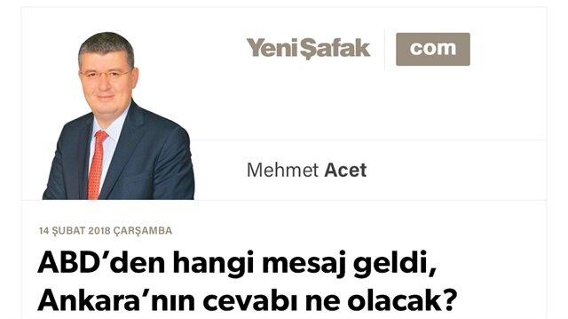 ABD'den hangi mesaj geldi, Ankara'nın cevabı ne olacak?