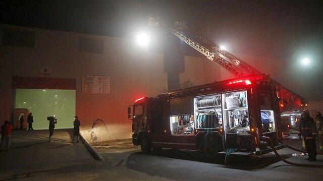 Yeşilköy CNR Fuar Merkezi'nde yangın çıktı.