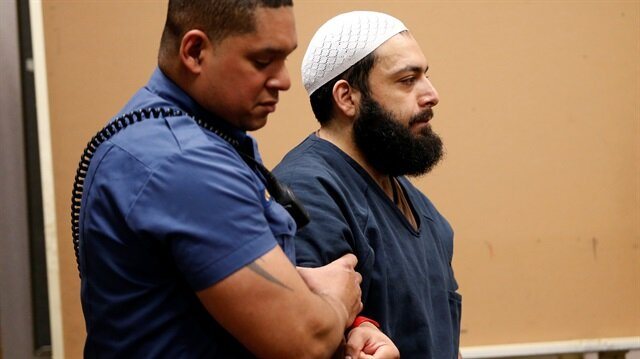 Ahmad Khan Rahimi an Afghan-born U.S. citizen accused of planting bombs in New York and New Jersey appears in Union County Superior Court for a hearing in Elizabeth New Jersey