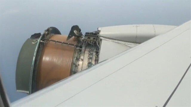 Uçakta dehşete düşüren görüntü!