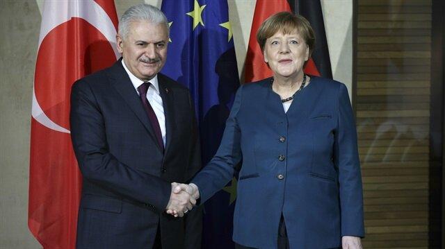 Arşiv: Başbakan Yıldırım, Almanya Başbakanı Merkel