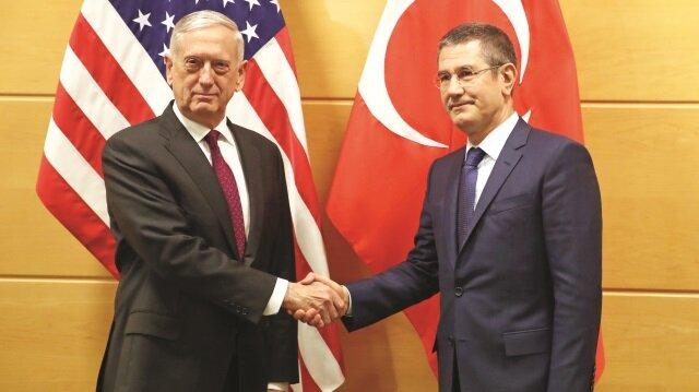 Milli Savunma Bakanı Nurettin Canikli, Roma'da ABD'li mevkidaşı James Mattis'le görüştü.