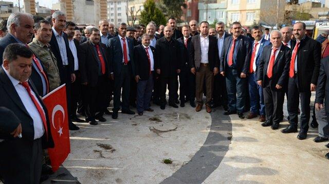 Gaziantepli bin 500 muhtar Kilis'te Zeytin Dalı Harekatı'na destek oldu.
