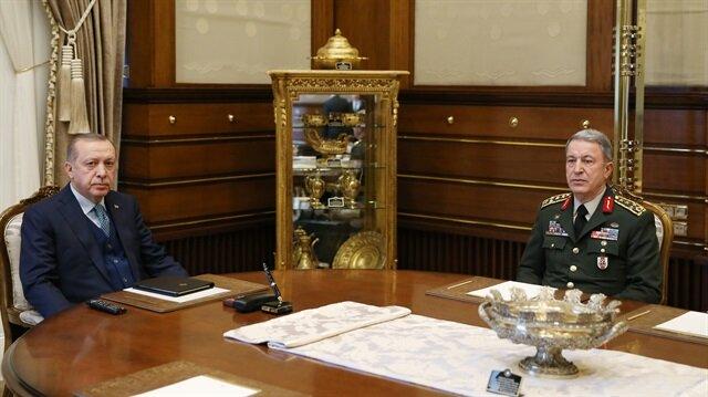 Recep Tayyip Erdoğan ile Hulusi Akar