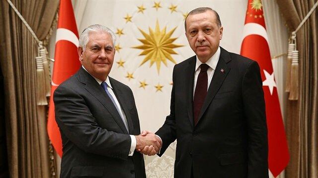 ABD Dışişleri Bakanı Tillerson ve Cumhurbaşkanı Erdoğan