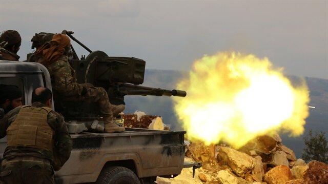 Afrin'de terör hedefleri yoğun bir şekilde bombalanıyor