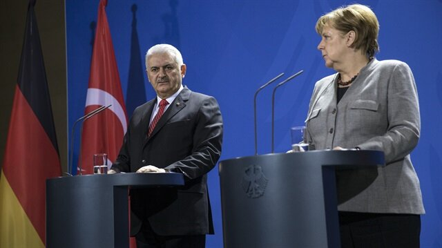 Merkel ile Yıldırım ortak basın toplantısında açıklama yaptı.