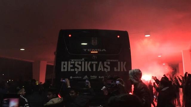 Beşiktaş kafilesi, Konya'da