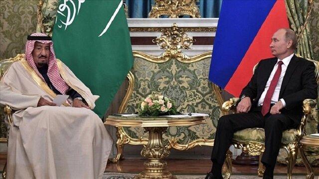 King Salman bin Abdulaziz Al Saud (L) of Saudi Arabia and Russia's President Vladimir Putin (R) meet for talks at the Moscow Kremlin in Moscow, Russia on October 5, 2017.