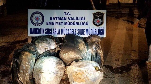 Batman'da ele geçirilen uyuşturucu madde