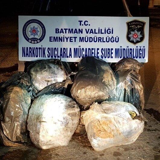 Batman'da bir araçta 105 kilo 350 gram uyuşturucu ele geçirildi