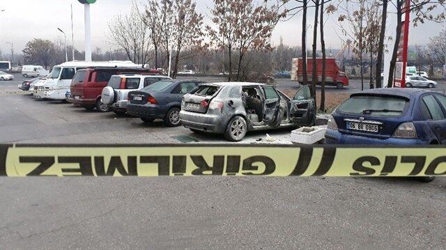 Park halindeki otomobil bomba gibi patladı: 1 yaralı