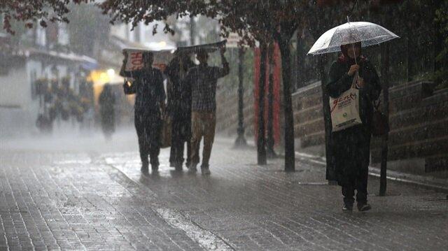 Meteorolojiden bazı bölge ve illere kuvvetli yağış uyarısı